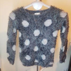 BOGO JOSEPH A polka dot grey mohair blend sweater